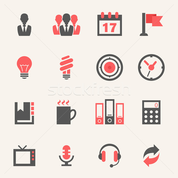 Business. Icon set Stock photo © RAStudio