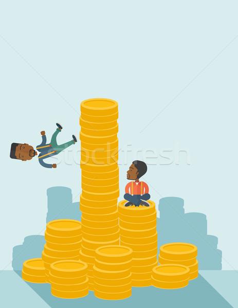 Twee zwarte zakenlieden zakenman een vergadering Stockfoto © RAStudio