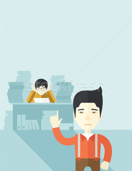 Asian office clerk has a lot of works. Stock photo © RAStudio