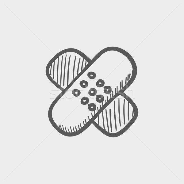 клей эскиз икона веб мобильных рисованной Сток-фото © RAStudio