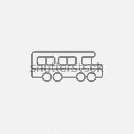 Iskolabusz ikon rajzolt kréta kézzel rajzolt iskolatábla Stock fotó © RAStudio