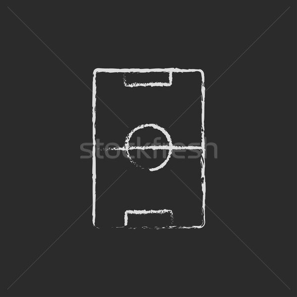 Stadion lay-out icon krijt Stockfoto © RAStudio