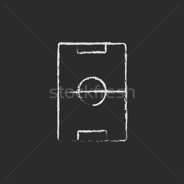 Stadion układ ikona kredy Zdjęcia stock © RAStudio