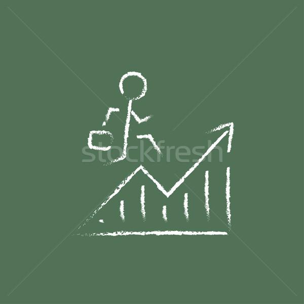 Financial recovery icon drawn in chalk. Stock photo © RAStudio