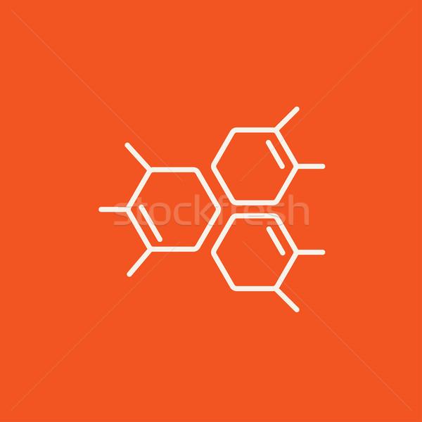 Chemicznych wzoru line ikona internetowych komórkowych Zdjęcia stock © RAStudio