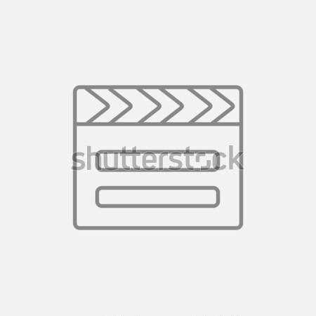 Stok fotoğraf: Hat · ikon · web · hareketli · infographics · vektör