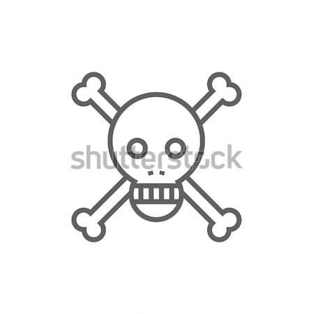 Skull and cross bones line icon. Stock photo © RAStudio
