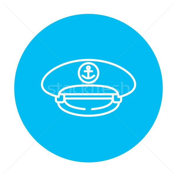 Captain peaked cap line icon. Stock photo © RAStudio