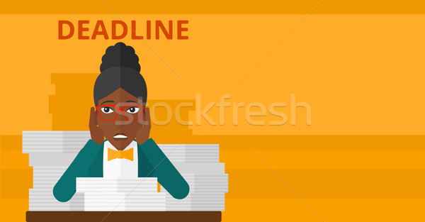 Woman having problem with deadline. Stock photo © RAStudio