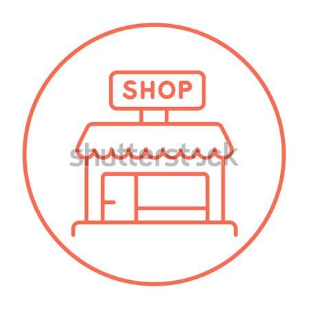 Shop store line icon. Stock photo © RAStudio
