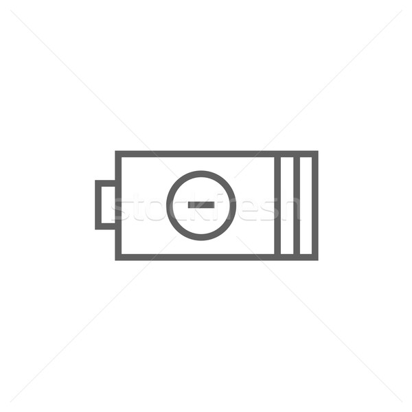 Low power battery line icon. Stock photo © RAStudio