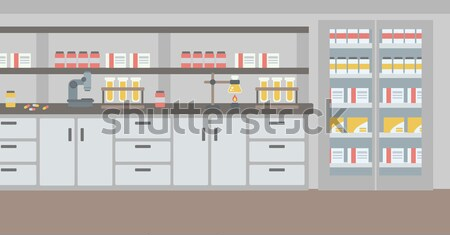 Background of laboratory interior. Stock photo © RAStudio
