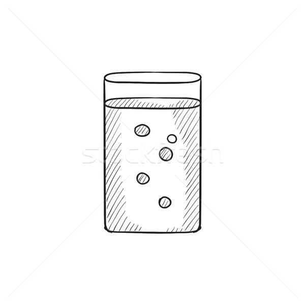 Vidrio agua boceto icono vector aislado Foto stock © RAStudio