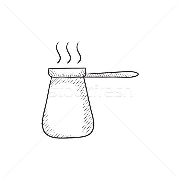 Café esboço ícone vetor isolado Foto stock © RAStudio