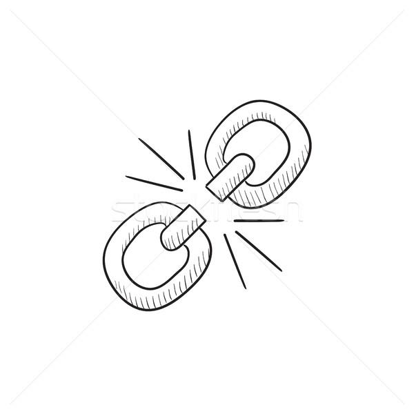 Stock photo: Broken link sketch icon.