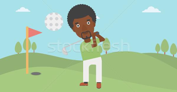 гольфист мяча борода профессиональных гольф молодым человеком Сток-фото © RAStudio