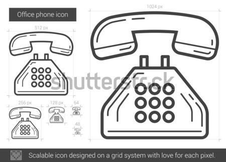 Office phone line icon  vector illustration © Andrei