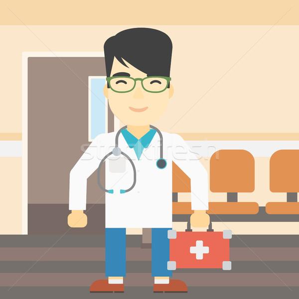 Médecin premiers soins boîte asian médecin de sexe masculin Photo stock © RAStudio