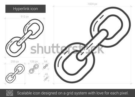 Háló linkek vonal ikon vektor izolált Stock fotó © RAStudio