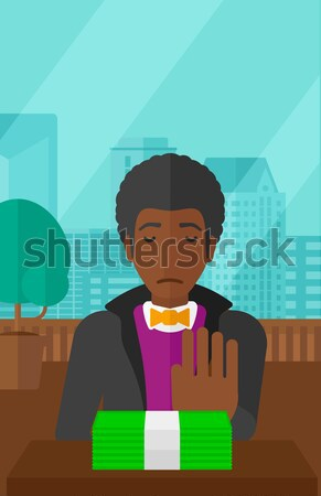 Man refusing to take bribe vector illustration. Stock photo © RAStudio