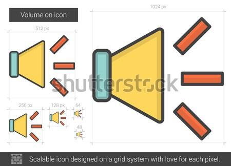 Volume on line icon. Stock photo © RAStudio