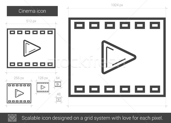 Cinema line icon. Stock photo © RAStudio