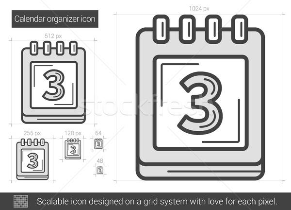 Calendario organizador línea icono vector aislado Foto stock © RAStudio
