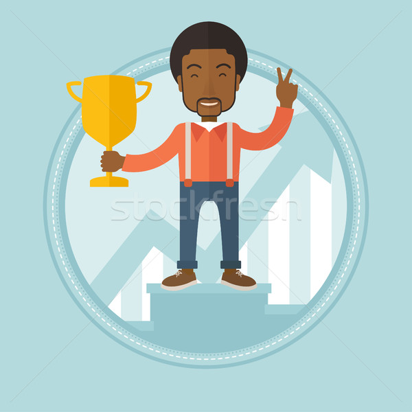 Businessman proud of his business award. Stock photo © RAStudio