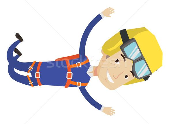 кавказский прыжки парашютом профессиональных мужчины падение Сток-фото © RAStudio