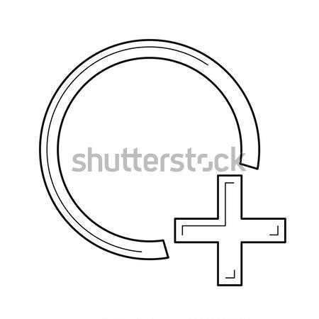 Add shape line icon. Stock photo © RAStudio