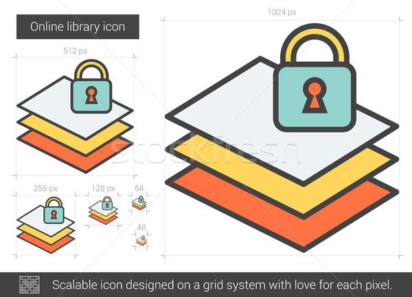 Online library line icon. Stock photo © RAStudio