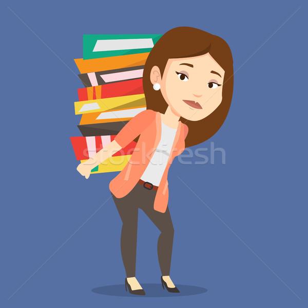 Сток-фото: студент · книгах · кавказский · устал