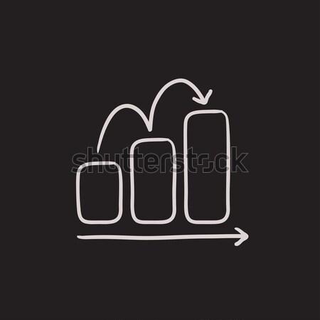 Staafdiagram schets icon vector geïsoleerd Stockfoto © RAStudio