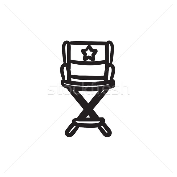 Director chair sketch icon. Stock photo © RAStudio
