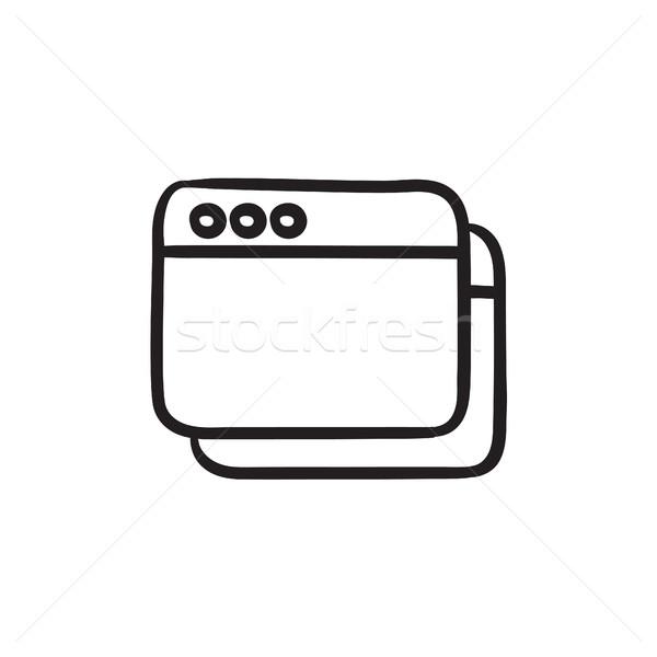 Opened browser windows sketch icon. Stock photo © RAStudio