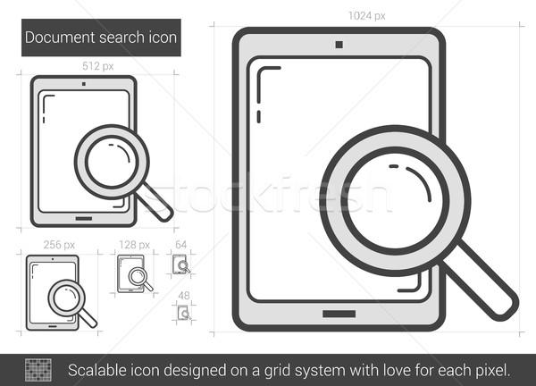 Document search line icon. Stock photo © RAStudio