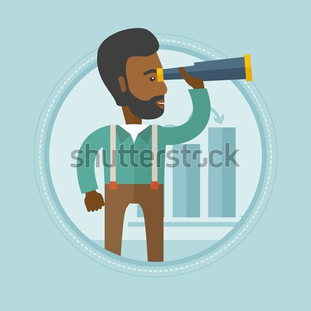 Man cutting price tag off new t-shirt. Stock photo © RAStudio