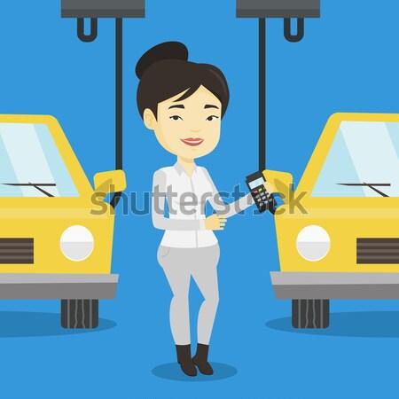Stockfoto: Werknemer · auto · kaukasisch · fabriek · ingenieur