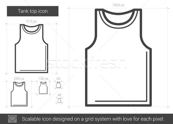Tank top lijn icon vector geïsoleerd Stockfoto © RAStudio
