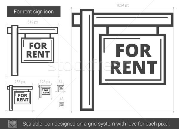 For rent sign line icon. Stock photo © RAStudio