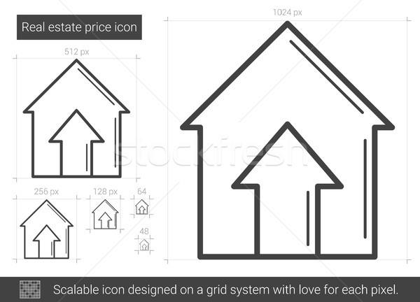 Immobiliari prezzo line icona vettore isolato Foto d'archivio © RAStudio