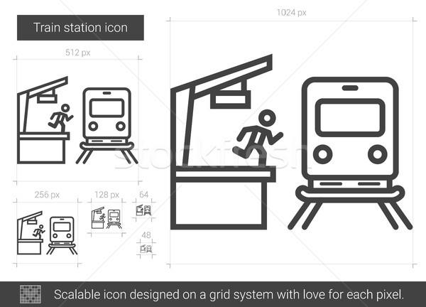 Train station line icon. Stock photo © RAStudio