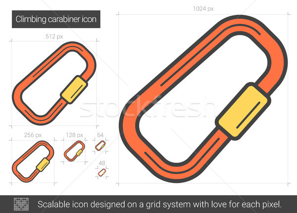 Climbing carabiner line icon. Stock photo © RAStudio