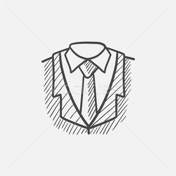 Male suit sketch icon. vector illustration © RAStudio