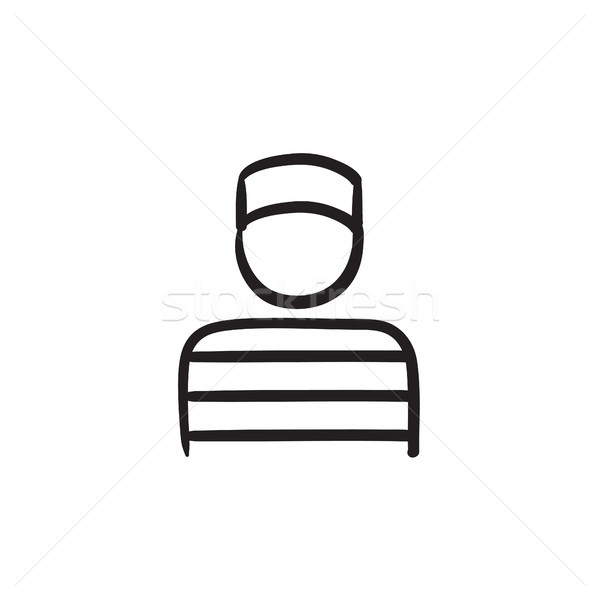 Prigioniero sketch icona vettore isolato Foto d'archivio © RAStudio
