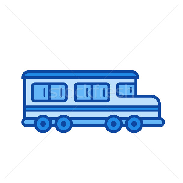 Okul otobüsü hat ikon vektör yalıtılmış beyaz Stok fotoğraf © RAStudio