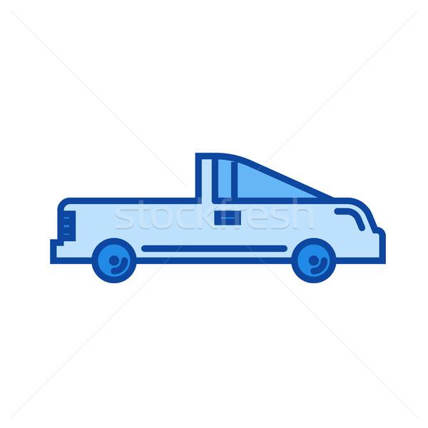 Coupe auto lijn icon vector geïsoleerd Stockfoto © RAStudio