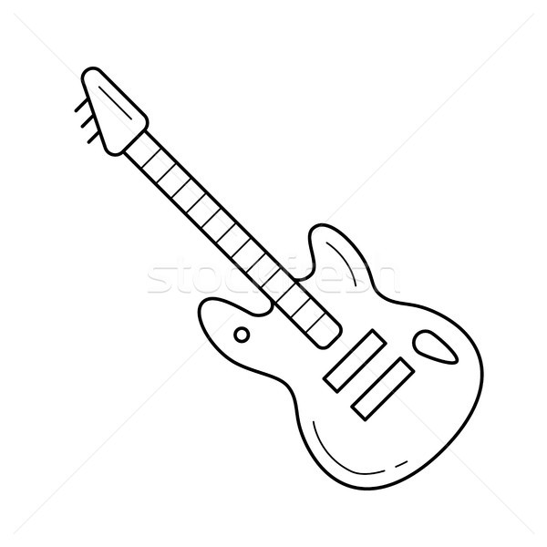 Rock guitar line icon. Stock photo © RAStudio