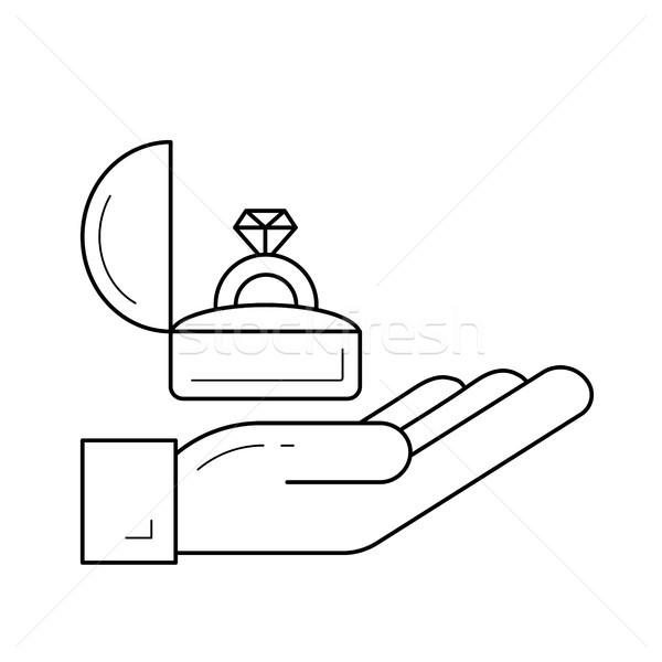 Proposal vector line icon. Stock photo © RAStudio
