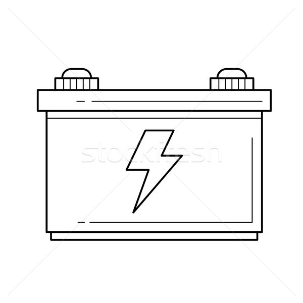Car battery vector line icon. Stock photo © RAStudio
